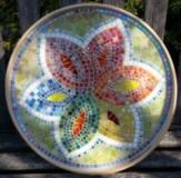 Platter with grout - ReclaimedMosaics