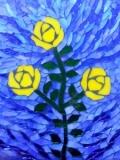 Yellow rose mosaic by Dawn Briskey.