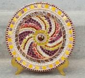 Brown Spiral Platter - ReclaimedMosaics