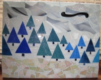 Winter scene on reclaimed cabinet door - ReclaimedMosaics