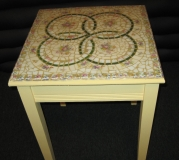 Broken China Mosaic Game Table - ReclaimedMosaics