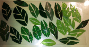 822 Window Leaves - WIP - ReclaimedMosaics